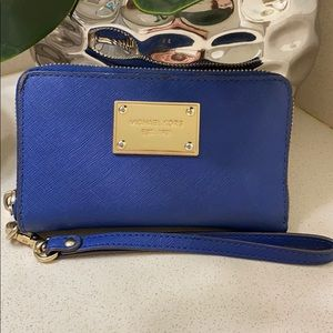 Michael Kors Royal Blue Wrist Wallet